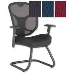 Influx Amaze Mesh Visitors Chair Claret