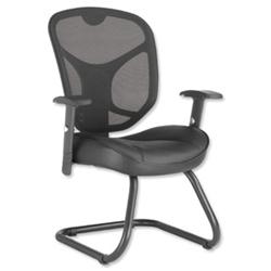 Influx Amaze Mesh Visitors Chair Leather