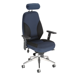 Influx Energize Driver Task Chair - Black Blue