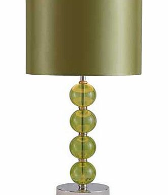 Glass Ball Table Lamp - Green