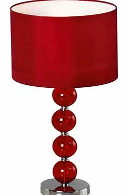 Glass Ball Table Lamp - Ruby Red