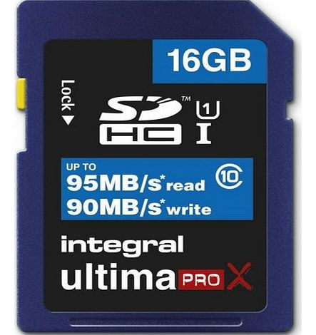 Integral 16GB UltimaProX SDHC 95MB/sec CL10 UHS-1