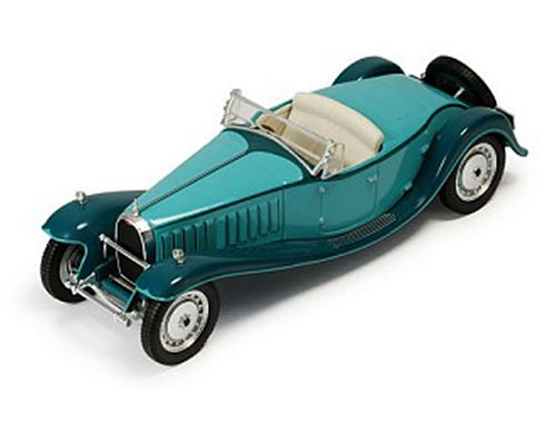 Diecast Model Bugatti Royale Type 41 Cabriolet (1927) in Turquoise