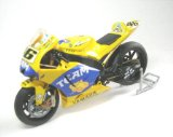 Yamaha YZR-M1 (Valentino Rossi 2006) in Yellow (1:12 scale) Diecast Model Motorbike