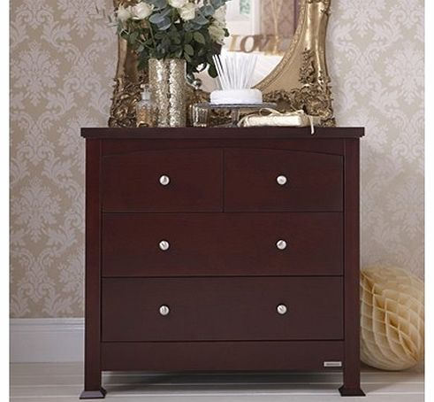 Bailey Sleigh Chest Of Drawers-Mahogony