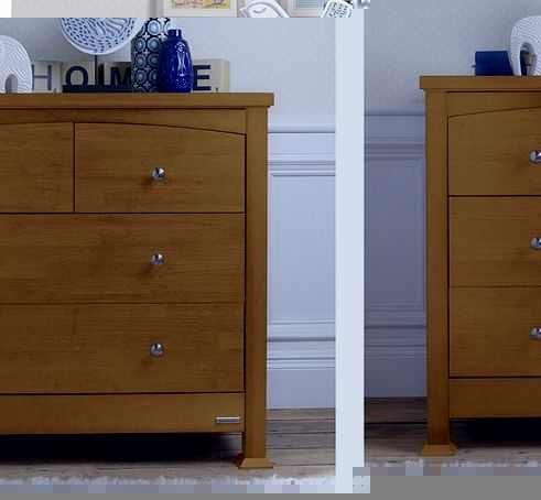Bailey Sleigh Chest Of Drawers-Oak
