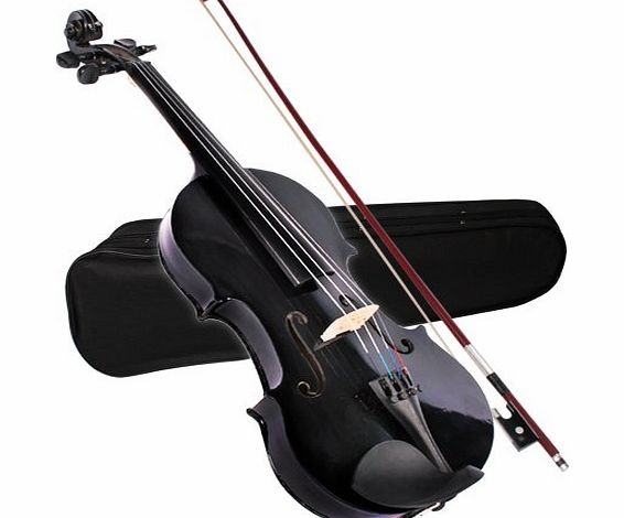 Jago Vio-01black 4/4 Size Violin Black with case and strings