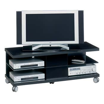 Power Play Extra Wide LCD TV Unit in Black