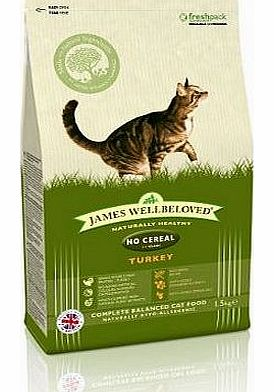 James Wellbeloved Turkey and Vegetables Adult No Cereals Cat Food 1.5 Kg