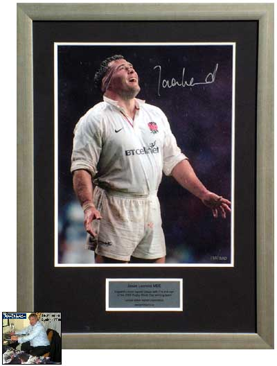 Leonard signed and framed limited edition photo presentation
