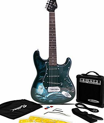 Jaxville Hades ST Style Electric Guitar Pack