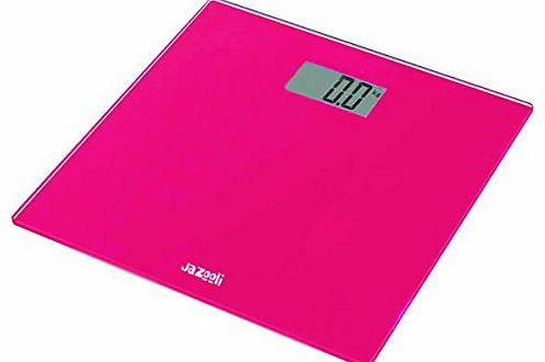 Glass Digital LCD Bathroom Body Electronic Weighing Scales KG LBS ST - Pink