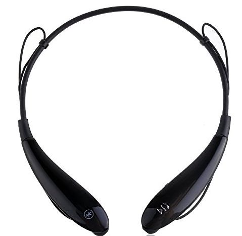 HV-801 Bluetooth 4.0 Wireless Bluetooth Music Stereo Universal Headset Headphone Vibration Neckband Style for LG iPhone iPad Samsung and Anyother Smartphones (HV-801 Black)