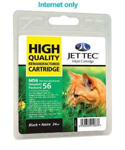 Tec HP56 Remanufactured Black Cartridge