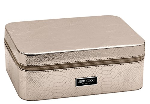 Bronze Gold Snakeskin Effect Shoe Box Cosmetic Vanity Make Up Case