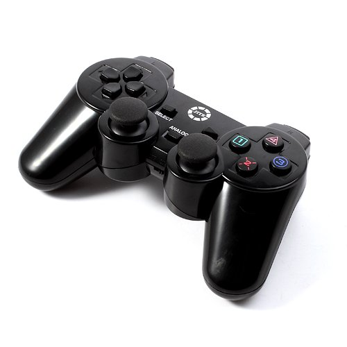 Beautiful-tech JITE 2.4G Wireless USB PC Computer Game Pad Joystick Joypad Double Shock Controller for Sony PS2 PS3 (Black)