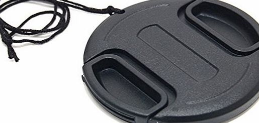 55mm Plastic Snap-on Lens Cap with lens cap keeper for Cameras and Camcorders - Canon, Leica, Nikon, Olympus, Panasonic, Pentax, Samsung, Sigma, Sony etc.