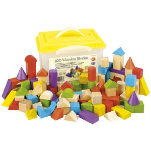 Branching Out 100 Wooden Blocks In Tub