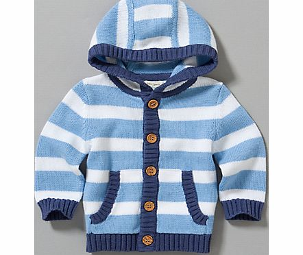 John Lewis Baby Striped Knitted Cardigan,