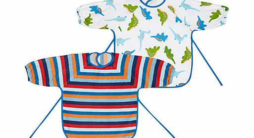 John Lewis Baby Terry Bibs, Pack of 2, Multi