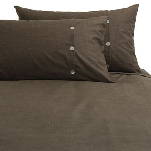 Brompton Duvet Cover- Walnut- Super Kingsize