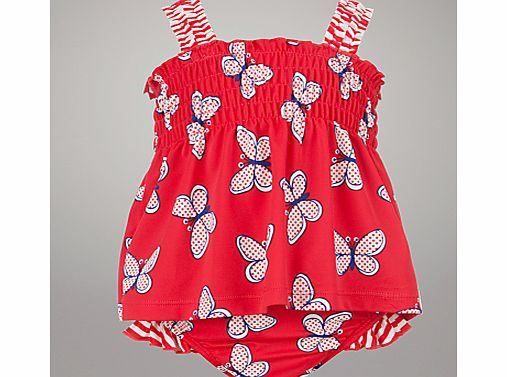 John Lewis Butterfly Tankini, Red