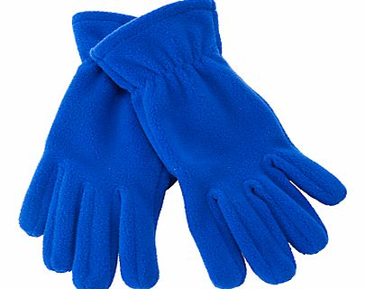 John Lewis Unisex Fleece Gloves, Royal Blue
