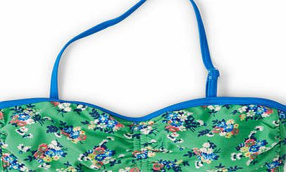 Johnnie  b Printed Bandeau Bikini Top Soft Green Bouquet