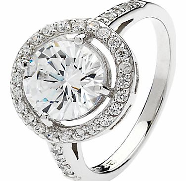 Sterling Silver Round Cubic Zirconia