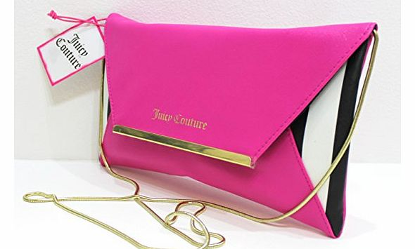 parfums pink clutch bag / shoulder purse with gold chain * new