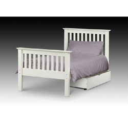 Barcelona White - 3FT Single Bedstead
