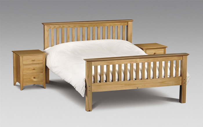 Barcelona 4ft 6 Double Pine Bed