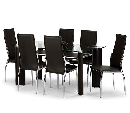Boston Rectangular Dining Set with Glass Top