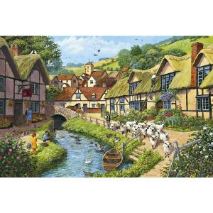 Jumbo Country Village Deluxe 1000 Piece Jigsaw Puzzle