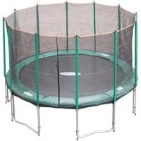 Jump for Fun Trampolines 14ft Sky Jump Trampoline and Safety Net
