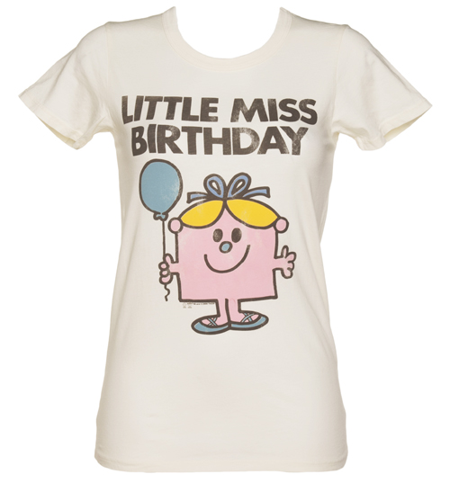 Ladies Sugar White Little Miss Birthday Vintage