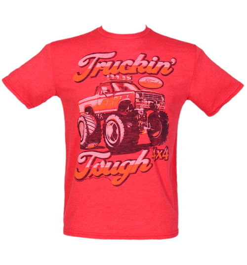 junk food mens red ford truckin tough t shirt from