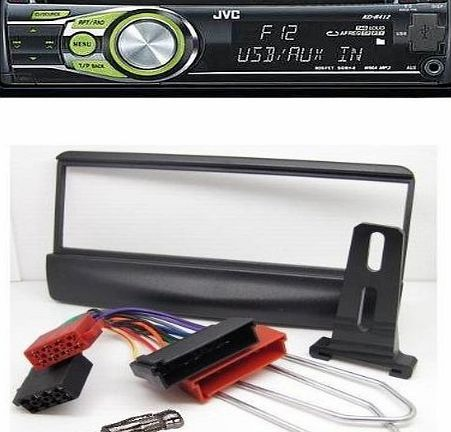 FORD FIESTA - ESCORT CAR STEREO FULL FITTING KIT FROM START TO FINISH. INCLUDES A JVC KD-R422 SINGLE CD/MP3/USB PLAYER. (Please Note Stereo Illumination may vary)