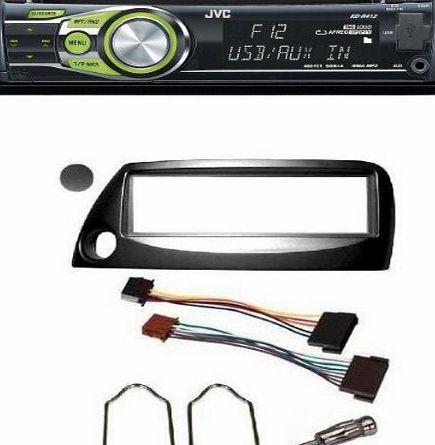 FORD KA BLACK CAR STEREO FULL FITTING KIT FROM START TO FINISH. INCLUDES A JVC KD-R422 SINGLE CD/MP3/USB PLAYER. (Please Note Stereo Illumination may vary)