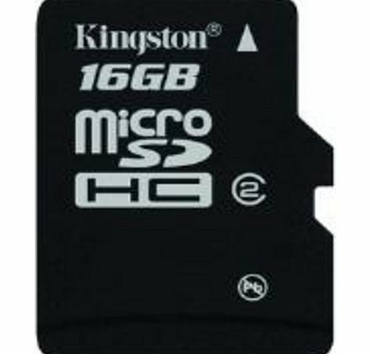 Kingston microSDHC 16GB Class 4 with SD Adapter -