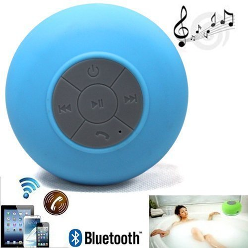 Audio Mini Ultra Portable Waterproof Bluetooth Wireless Stereo Speakers with Suction Cup for Showers, Bathroom, Pool, Boat, Car, Beach, Outdoor etc. | For All Devices with Bluetooth Capability +
