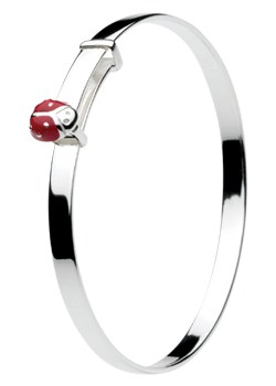 Silver Ladybird Bangle