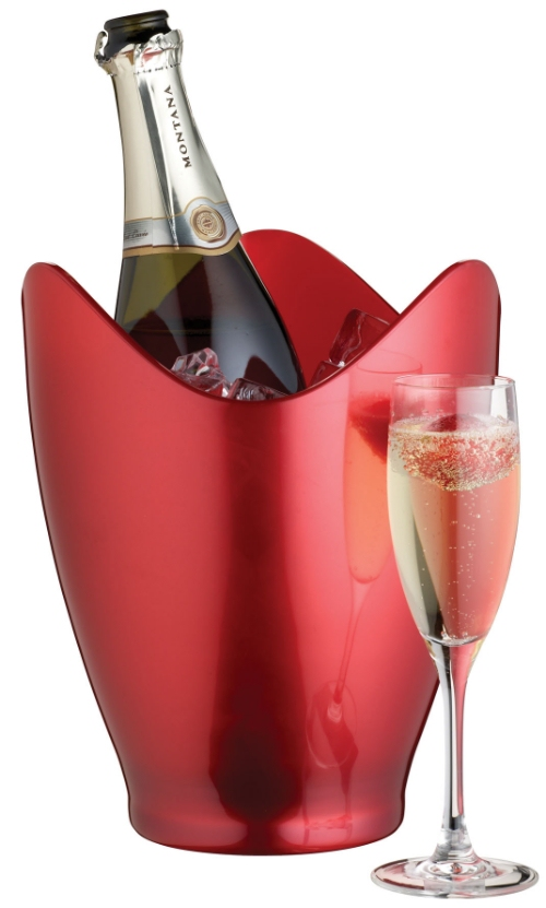 BarCraft Red Lustre Champagne Bucket