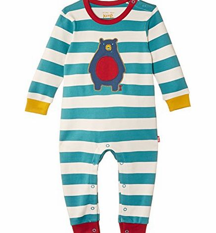 Kite Baby Boys Bear Striped Long Sleeve Romper, Multicoloured, 0-3 Months