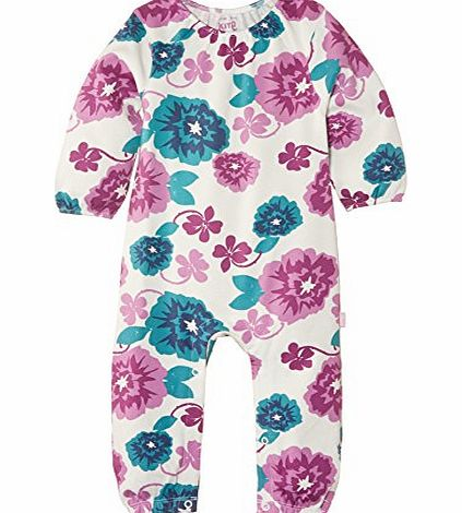 Kite Baby Girls Country Floral Long Sleeve Romper, Multicoloured, 0-3 Months