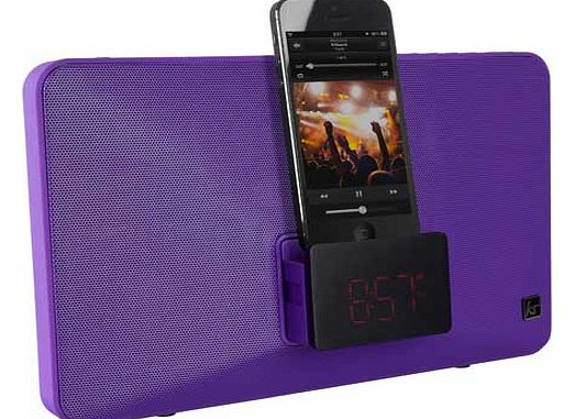 Fresh Dock Clock Radio - Purple