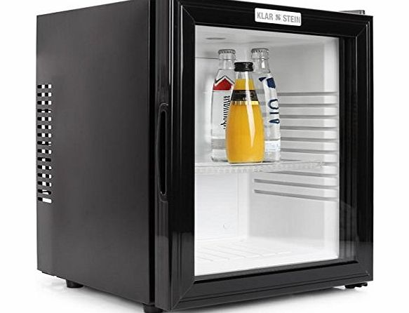 Klarstein MKS-12 Mini Bar Fridge - (24 L, Glass Door amp; Low Noise Emission) - Black