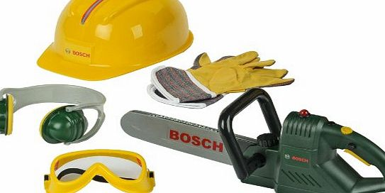 Bosch Toy Chainsaw. Helmet and Accessories