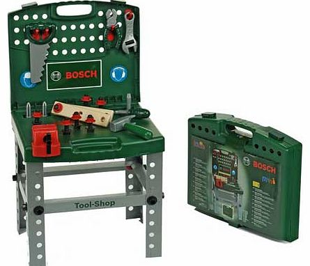 Bosch Toy Tool Shop Workbench with Accessories