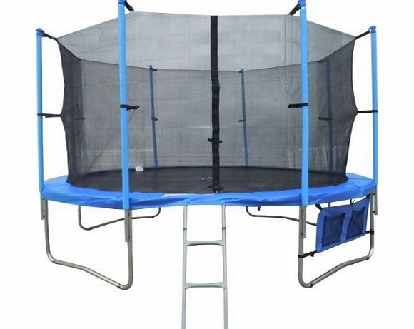 KMS FoxHunter 12FT Trampoline Set Max Load 170kg Includes Safety Net Enclosure £49.99 All Weather Cover £19.99 And Ladder £19.99 TUV GS EN-71 CE Certified RRP £419.99 Total Saving £240 Off the Package